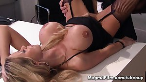 Incredible pornstars in Crazy Blonde, Stockings adult clip