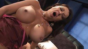 Crazy pornstar Raquel Devine yon incredible mature, facial sex scene