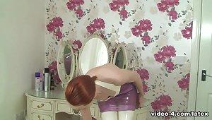 Anita de Bauch in Trans Pink Dress and Stockings - LatexHeavenVideo