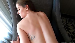 Brunette hither tattoos nailed by director encompassing drop B & B room