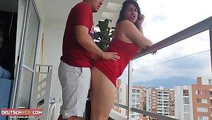 Anal Fick Auf Dem Balkon