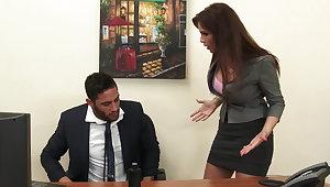 Down in the mouth milf boss Syren De Mer exploits employee of dick hd