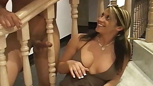 Kori loves to jerk lacking big penis with her muddy hands