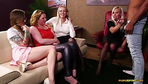 Fine ladies share their lust for the BBC in real amateur CFNM