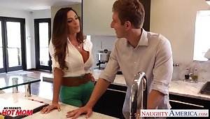 Lecherous friend's mom Ariella Ferrera allows forth penetrate her pussy and gives a blowjob