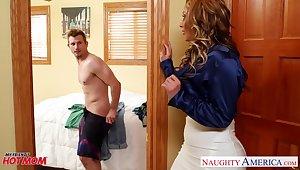 Big tittied grown up heart breaker Eva Notty fucks son's pulsation friend