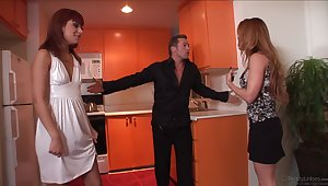 Duplication facial after threesome with Andrianna Investor and Janet Mason